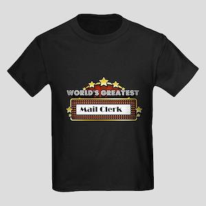World's Greatest Mail Clerk Kids Dark T-Shirt