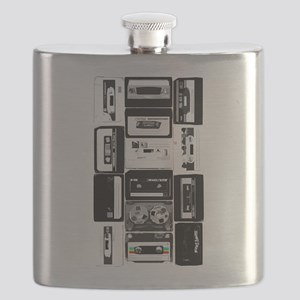 retro audio music cassette group bw - press Fl