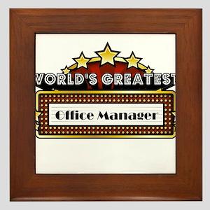 World's Greatest Office Manager Framed Tile