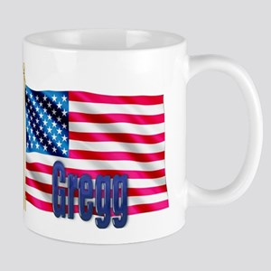 Gregg Personalized USA Flag Mug
