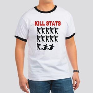 Zombie Kill Stats Ringer T