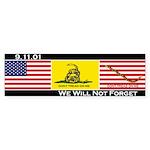 3-Flags Bumper Sticker