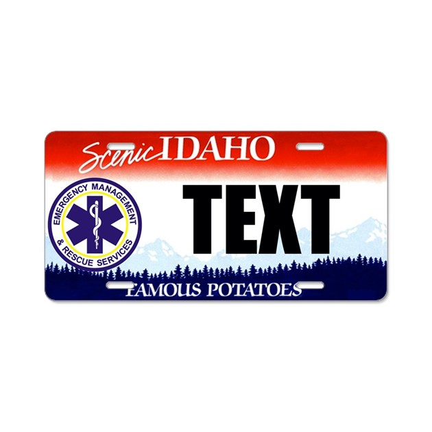 Idaho Ems Custom License Plate By Ranger275store