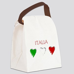 Italia Hearts Canvas Lunch Bag
