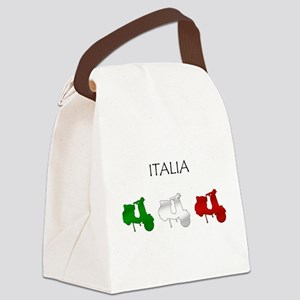 Italian Scooters Canvas Lunch Bag