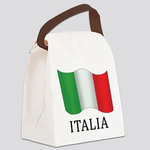 Italia Flag Canvas Lunch Bag