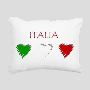 Italia Hearts Rectangular Canvas Pillow