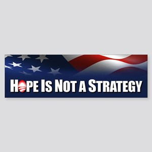 Hope is not Strategy Sticker (Bumper)