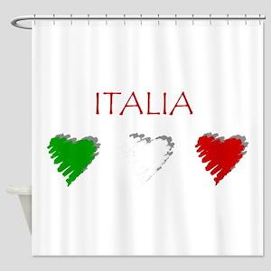 Italia Hearts Shower Curtain