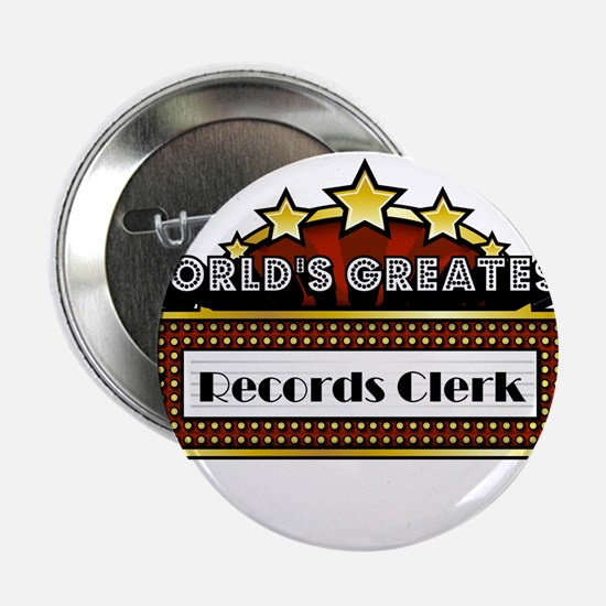 "World's Greatest Records Clerk 2.25"" Button"