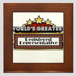 World's Greatest Registered Represent Framed Tile