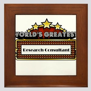 World's Greatest Research Consultant Framed Tile