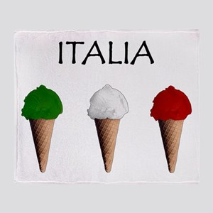 Gelati Italiani Throw Blanket