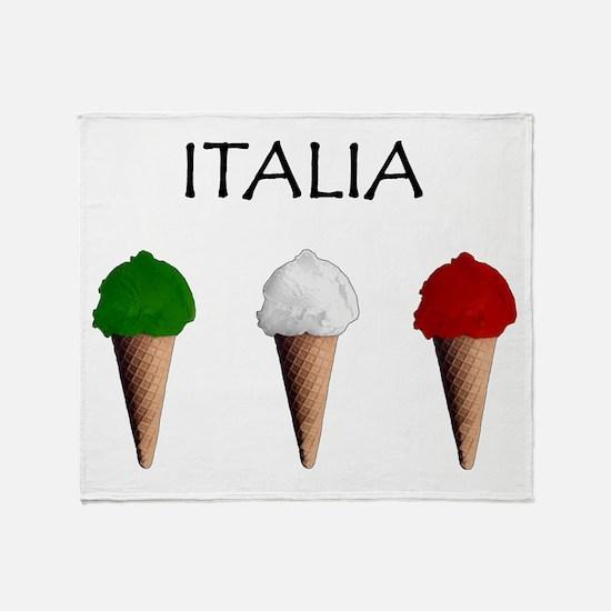 Gelati Italiani Throw Blanket