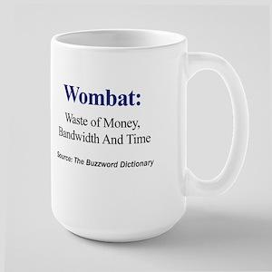 Left-handed Wombat Large Mug