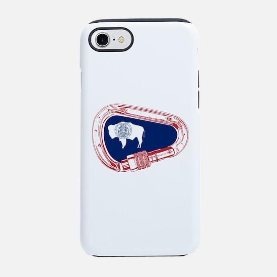 Wyoming Flag Climbing Carabine iPhone 7 Tough Case