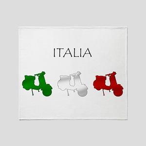 Italian Scooters Throw Blanket