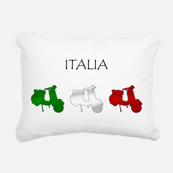 Italian Scooters Rectangular Canvas Pillow
