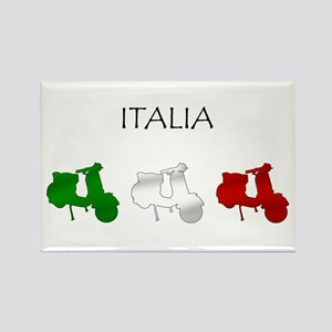 Italian Scooters Rectangle Magnet
