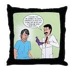 Prostate Exam Throw Pillow