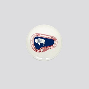 Wyoming Flag Climbing Carabiner Mini Button