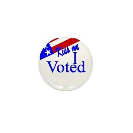 Kiss Me, I Voted Mini Button