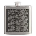 Chic Black Pebbles Flask
