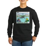 Swimming Long Sleeve Dark T-Shirt