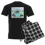 Swimming Men's Dark Pajamas