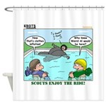 Swimming Shower Curtain