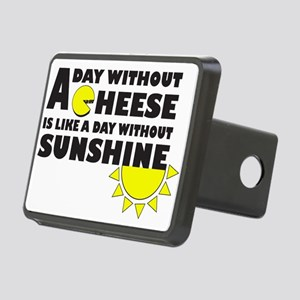 A Day Without Cheese Rectangular Hitch Cover