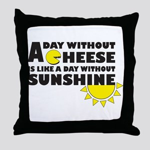 A Day Without Cheese Throw Pillow