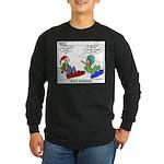 Snow Bored Long Sleeve Dark T-Shirt