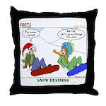 Snow Bored Throw Pillow