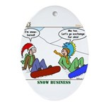 Snow Bored Ornament (Oval)