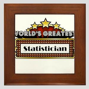 World's Greatest Statistician Framed Tile