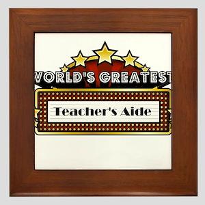 World's Greatest Teacher's Aide Framed Tile