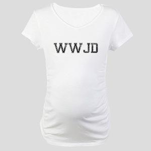 WWJD, Vintage Maternity T-Shirt