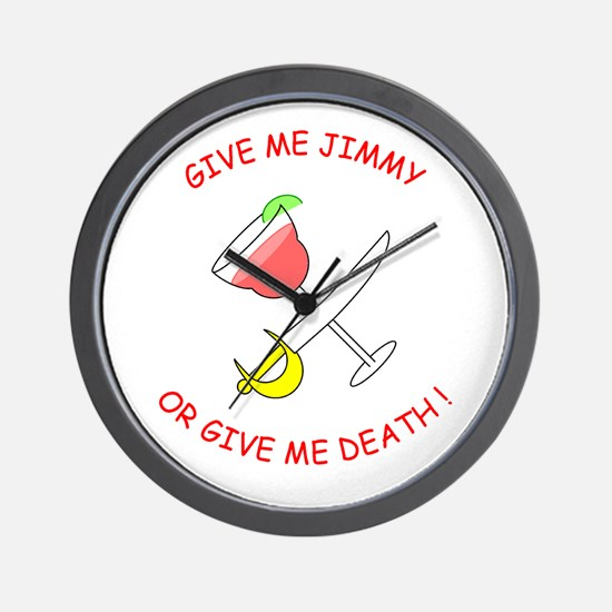 """Give Me Jimmy..."" Wall Clock"