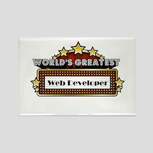 World's Greatest Web Developer Rectangle Magnet