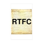 rtfc-shirt Sticker (Rectangle 50 pk)