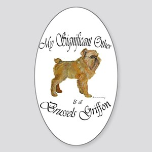 Brussels Significant Other Oval Sticker