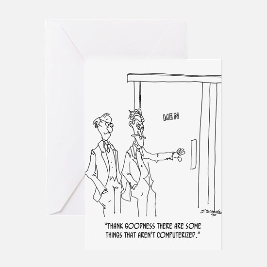 Restroom Cartoon 1306 Greeting Card