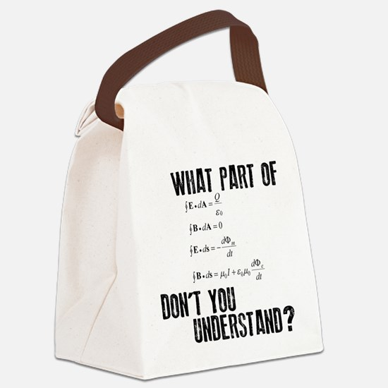 Maxwells Equation Canvas Lunch Bag