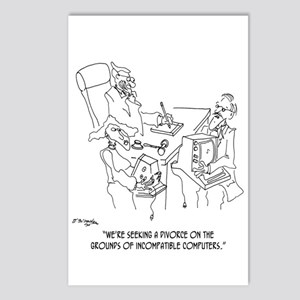 Divorce Cartoon 1309 Postcards (Package of 8)