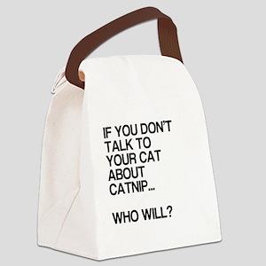 Funny, Catnip, Canvas Lunch Bag