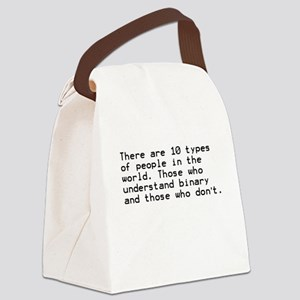 Funny, Binary Canvas Lunch Bag