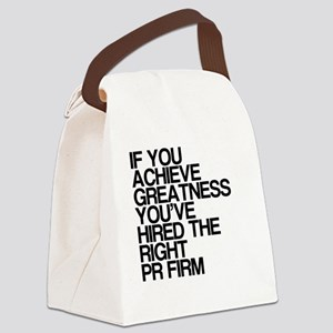 PR Firm, Humor, Canvas Lunch Bag