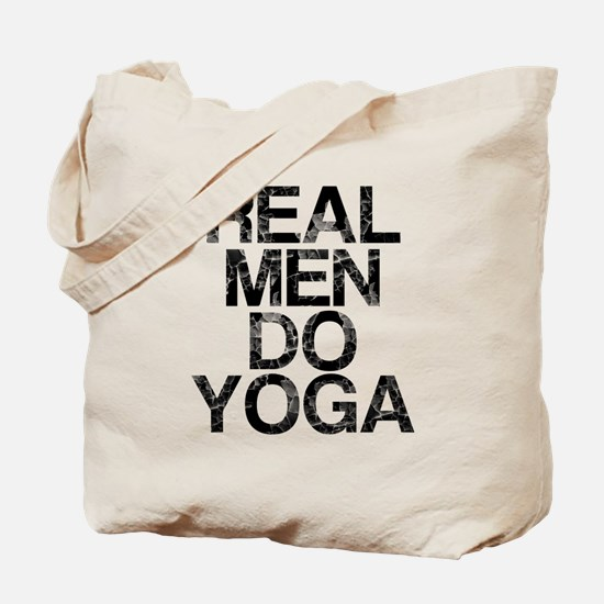 Real Men Do Yoga, Vintage, Tote Bag