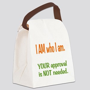 I Am who I am Canvas Lunch Bag